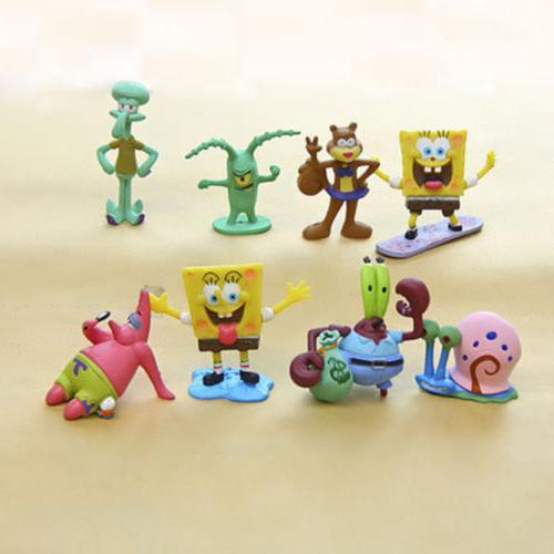 SpongeBob Patrick Sandy Gary 8PCS Figure Toy