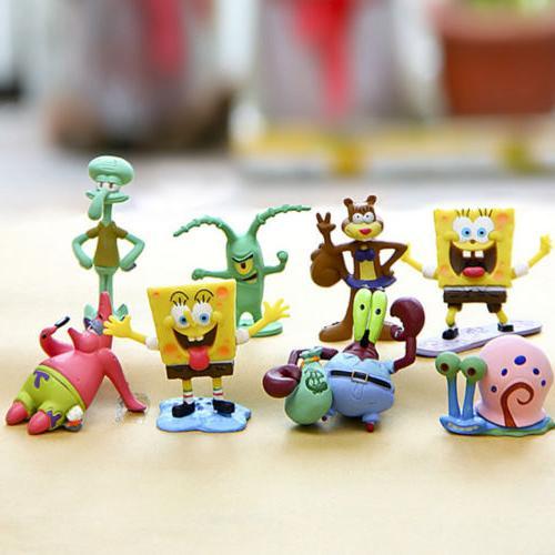 SpongeBob SquarePants Patrick Gary Sheldon 8PCS Figure Toy Kid