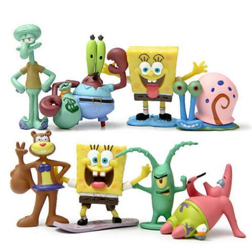 spongebob squarepants patrick sandy gary sheldon 8pcs