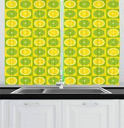 lime green kitchen curtains figures