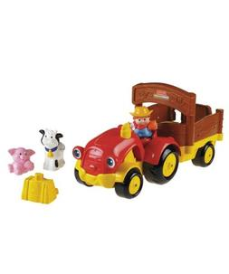 Fisher-Price Little People Tow 'n Pull Tractor - red, one si