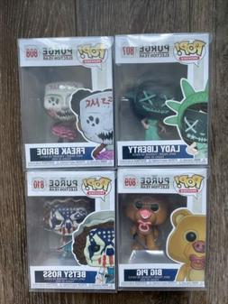 Lot of 4 Funko Pop! Movies: The Purge Election Year Vinyl Fi