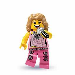 LEGO - Minifigures Series 2 - POP STAR - Mint Minifig Mini F