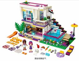 New 619pcs Livi's Pop Star House Building Blocks mini-doll f