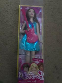 NEW Barbie Pop Star Fashion Doll Brown Hair With Guitar