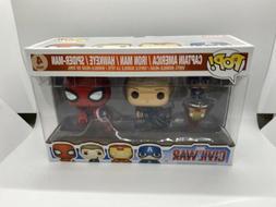 New Funko POP! 7604 Marvel Captain America 3: Civil War 4 Pa