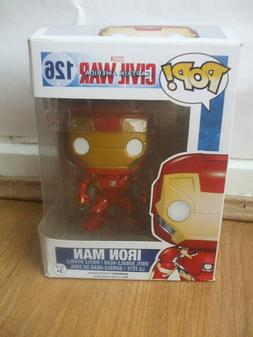 NEW FUNKO POP VINYL MARVEL CAPTAIN AMERICA CIVIL WAR IRON MA