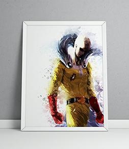 One Punch Man print, Saitama print, One Punch Man poster, Sa