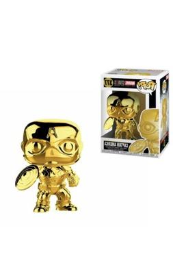 Funko Pop! #377 Captain America Gold Chrome Avengers Age Mar