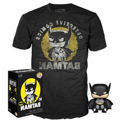 pop figure and t shirt dc batman