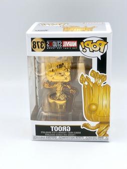 Funko Pop! Marvel Studios Golden Chrome Groot Bobble-Head Fi