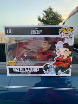 FUNKO POP RIDES CRUELLA IN CAR HOT TOPIC EXCLUSIVE #61 FIGUR