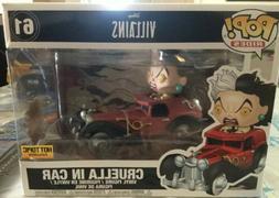 Funko POP! Rides Disney Villains Cruella In Car #61 Vinyl Fi