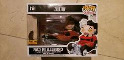 Funko POP! Rides Disney Villains Cruella In Car #61 Vinyl Fi