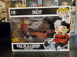 Funko Pop! Rides Disney Villains Cruella in Car #61 Hot Topi