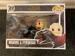 FunKo POP! Rides Game of Thrones Daenerys & Drogon Vinyl Fig