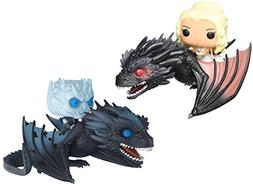 Funko POP rides Game of Thrones Night King on Icy Viserion a