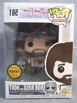 """POP Television 561 """"BOB ROSS and HOOT"""" Chase Edition Vinyl F"""