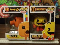 Funko Pop! Video Games Pac-Man #81 + Q-bert 169 Vinyl Figure