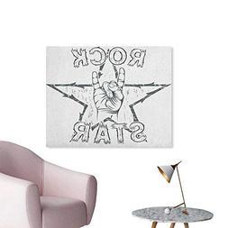 Anzhutwelve Popstar Party Art Stickers Rock Star Theme High