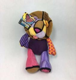 Retired Romero Britto Leonardo The Lion Plush Doll Tags NWT