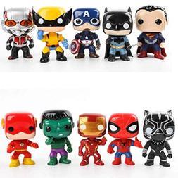 LQT Ltd 10Pcs/Set A-vengers 3 Super Hero Figure Characters M