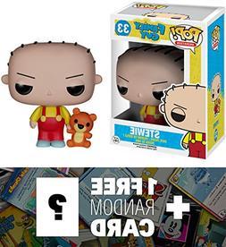 Stewie: Funko POP! x Family Guy Vinyl Figure + 1 FREE Americ