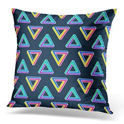 TOMKEYS Throw Pillow Cover Colorful Graphic Pattern with Imp