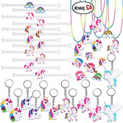 Unicorn Party Favors, Konsait Unicorn Bracelet, Unicorn Ring