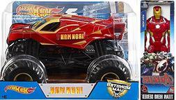 Hot Wheels Monster Jam Big Iron Man 1:24 2017 + Titan Sized
