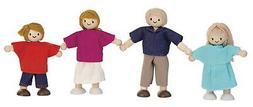 PlanToys Wooden Doll Family, Caucasian, Set of 4